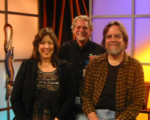 Kiki, Bill and Greg on one of the sets of Orange TV